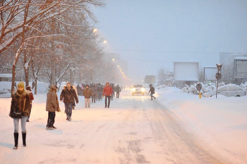 București sub zăpadă