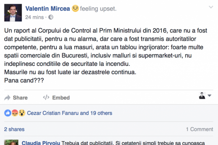 Postarea lui Valentin Mircea