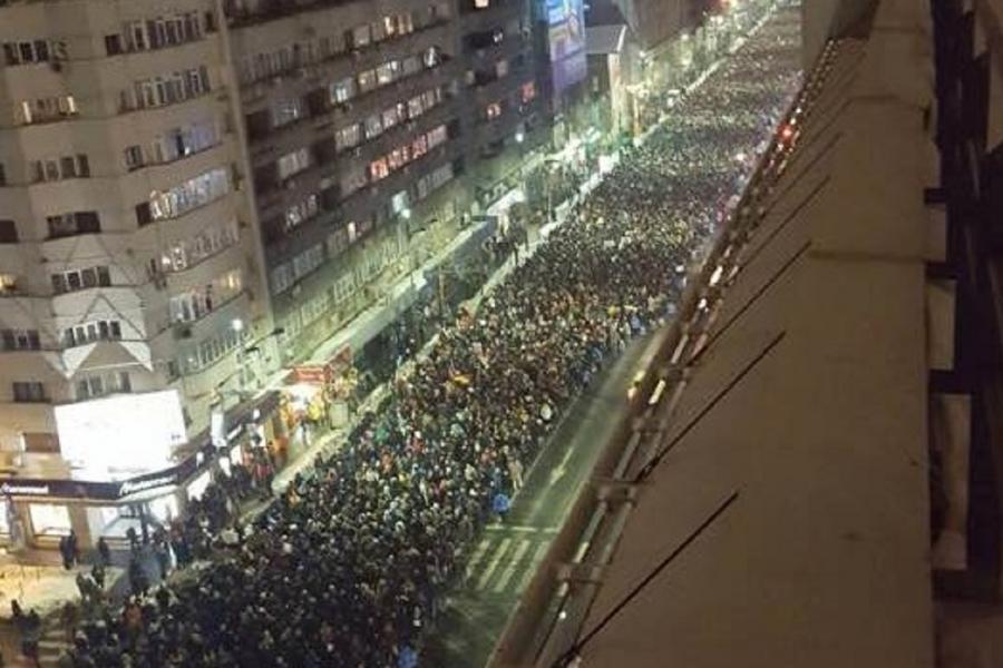Bulevardul Magheru - protest