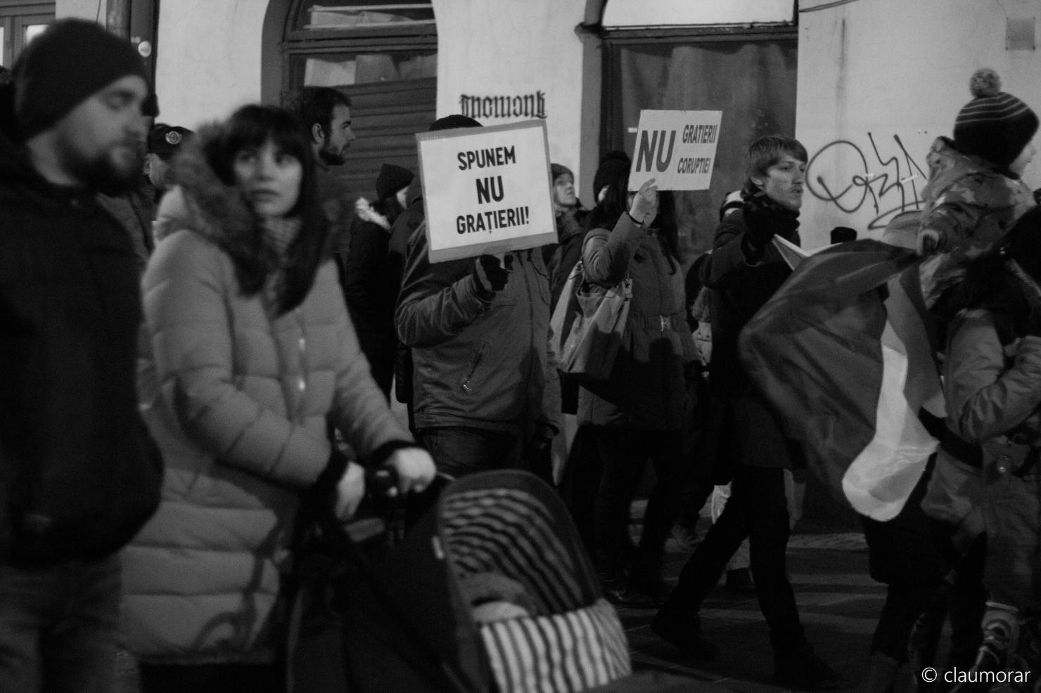 Protest la Cluj