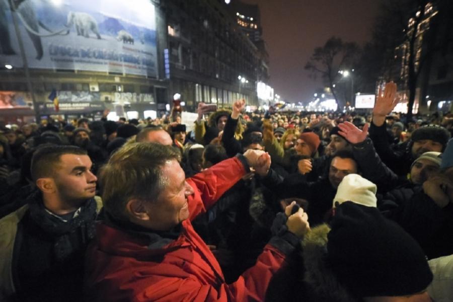 Klaus Iohannis la proteste