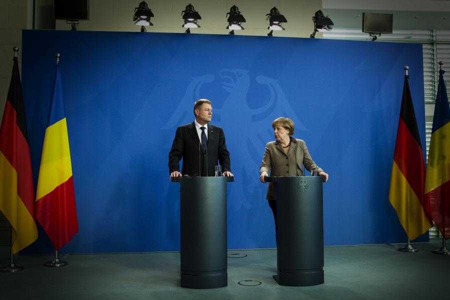 Klaus Iohannis și Angela Merkel