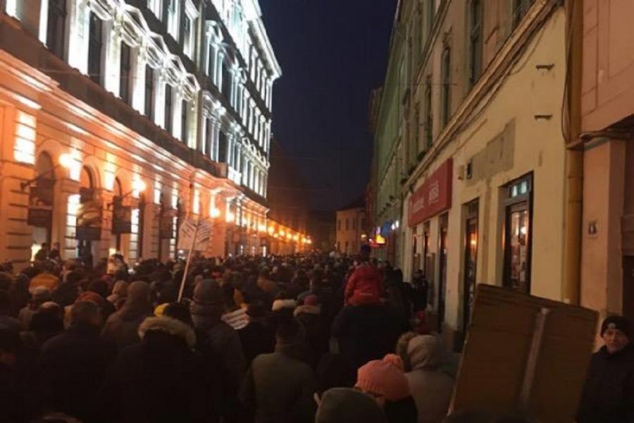 Timisoara - protest 29 ianuarie