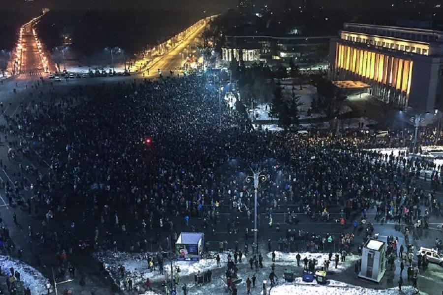 Protest 31 ianuarie Dan Mihai Bălănescu