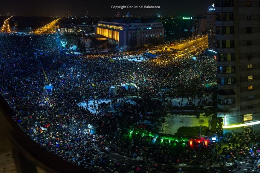 150.000 de oameni în Piața Victoriei