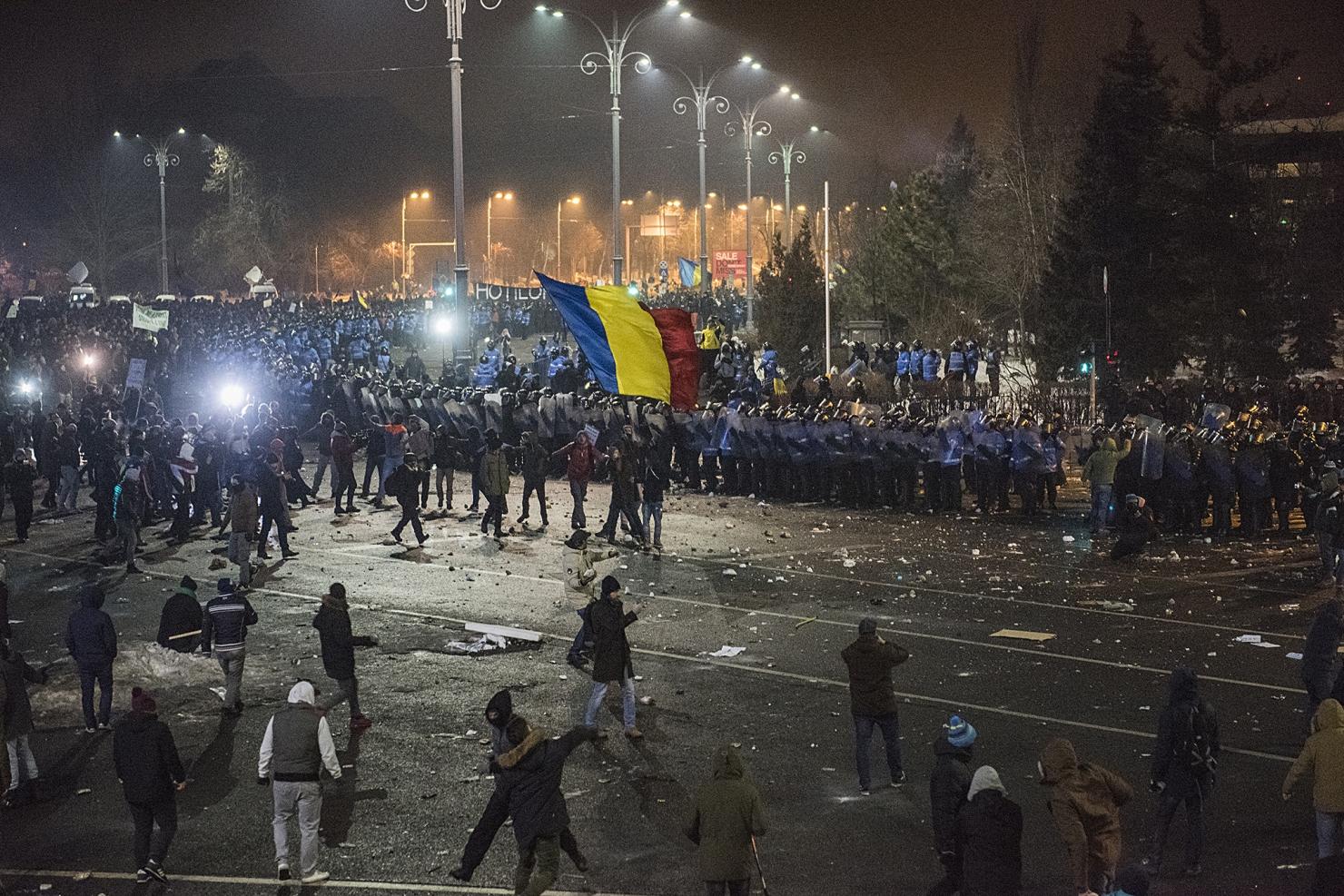 Violențe la protestul din 1 februarie