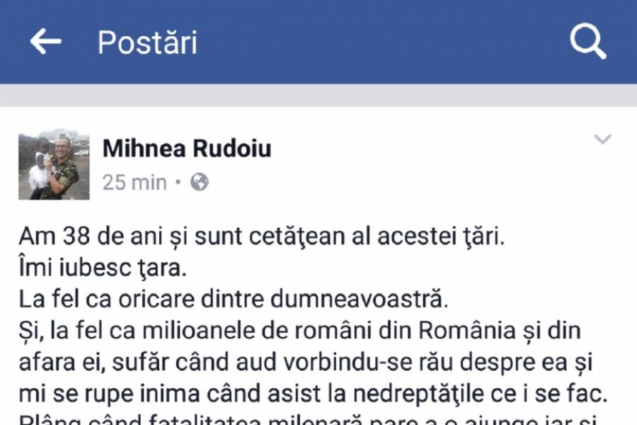 Mesaj Mihnea Rudoiu