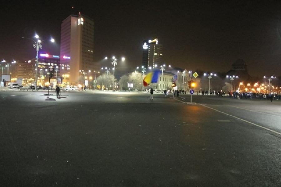 Piața Victoriei curată