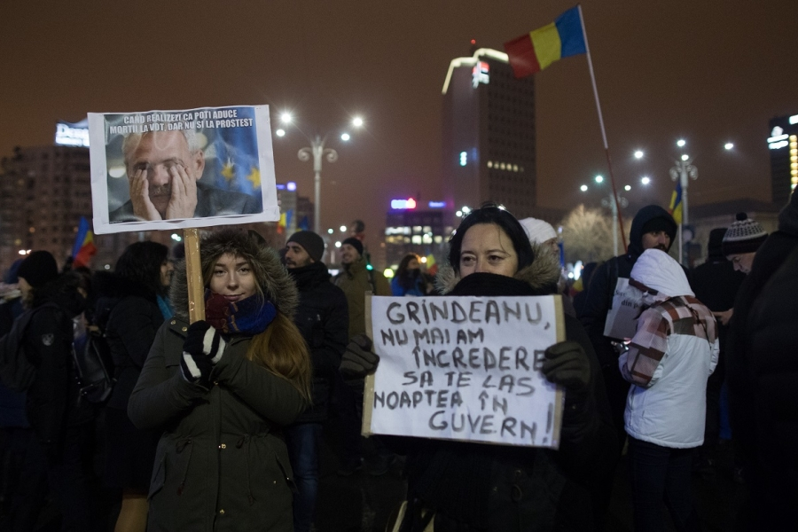 Proteste în București (Foto: Guliver Getty Images)