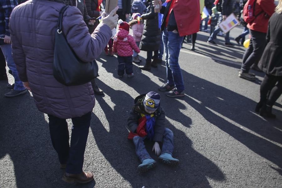 Copii Piața Victoriei