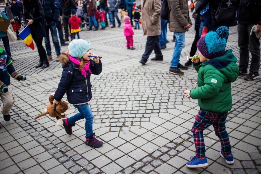 Protestul copiilor