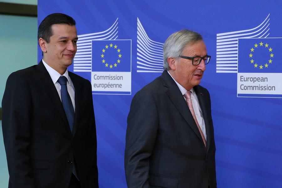 Sorin Grindeanu și Jean-Claude Juncker