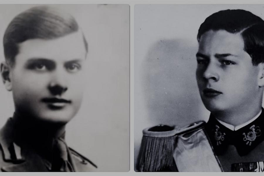 Generalul de brigadă Constantin Mihalcea și Regele Mihai I