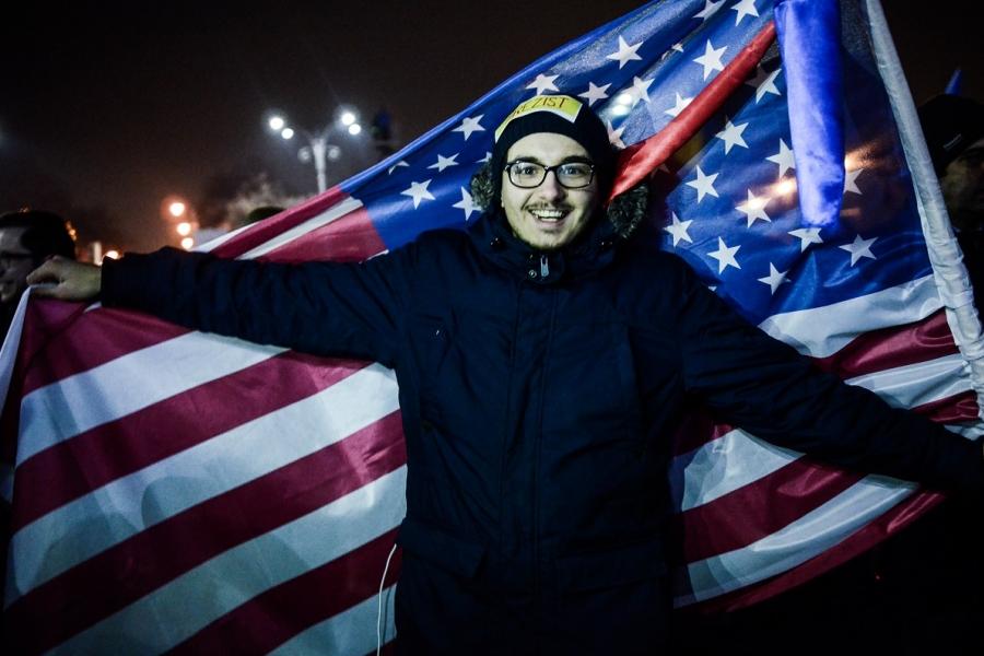 Protestatar - steagul SUA