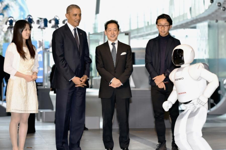 ASIMO și Obama