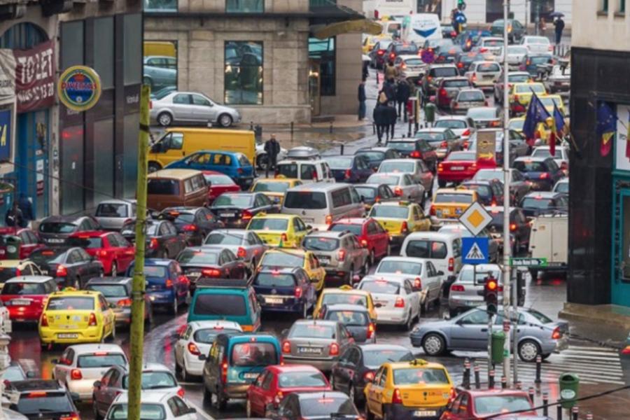 Trafic blocat în București