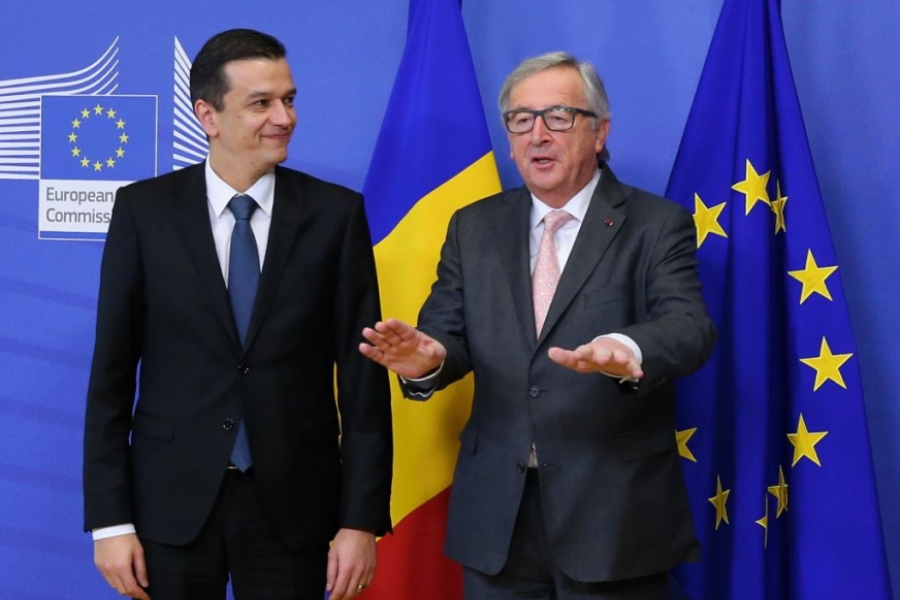 Sorin Grideanu și Jean Claude Juncker