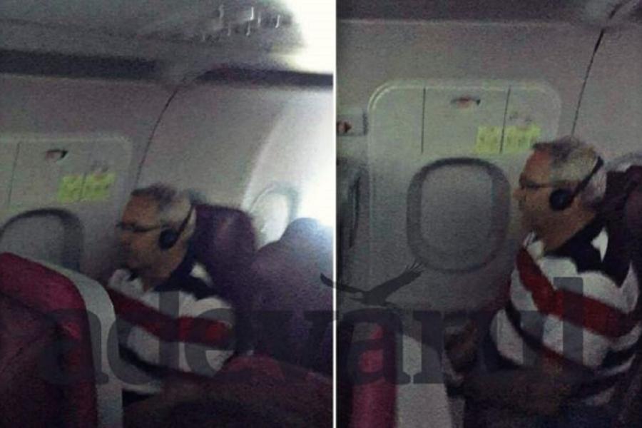 Liviu Dragnea în avion