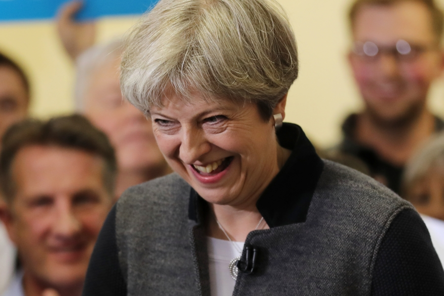 Theresa May în campanie