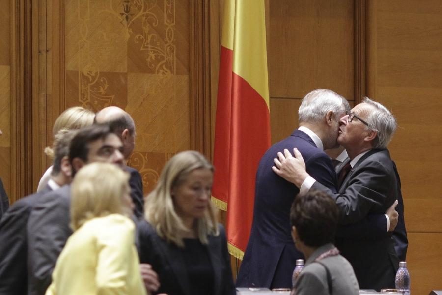 Jean Claude Junker în Parlamentul României