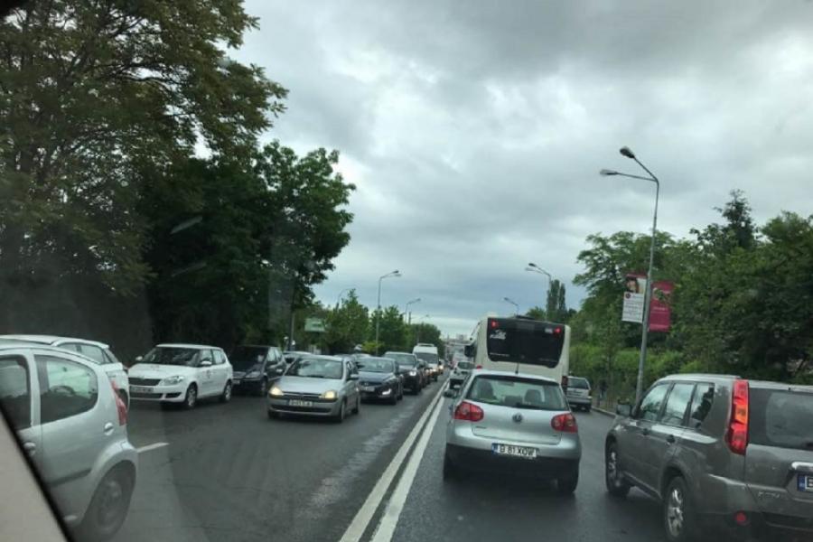 blocaj la intrarea in București