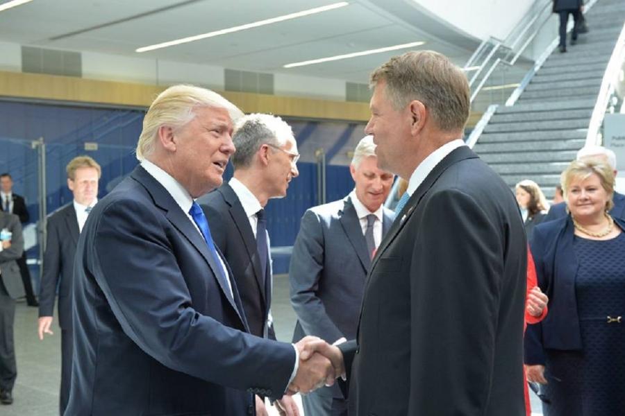 Klaus Iohannis - Donald Trump
