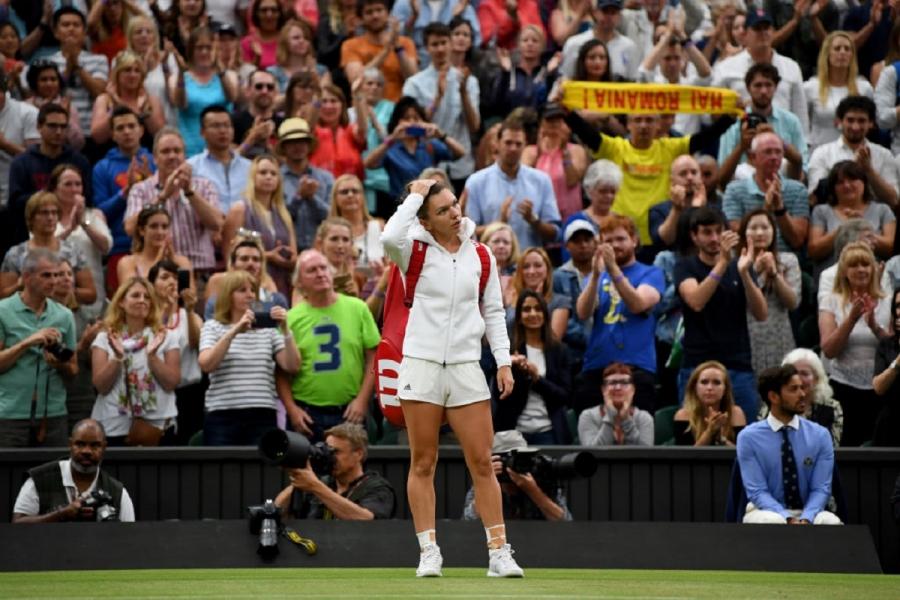 Simona Halep spectatori Wimbledon