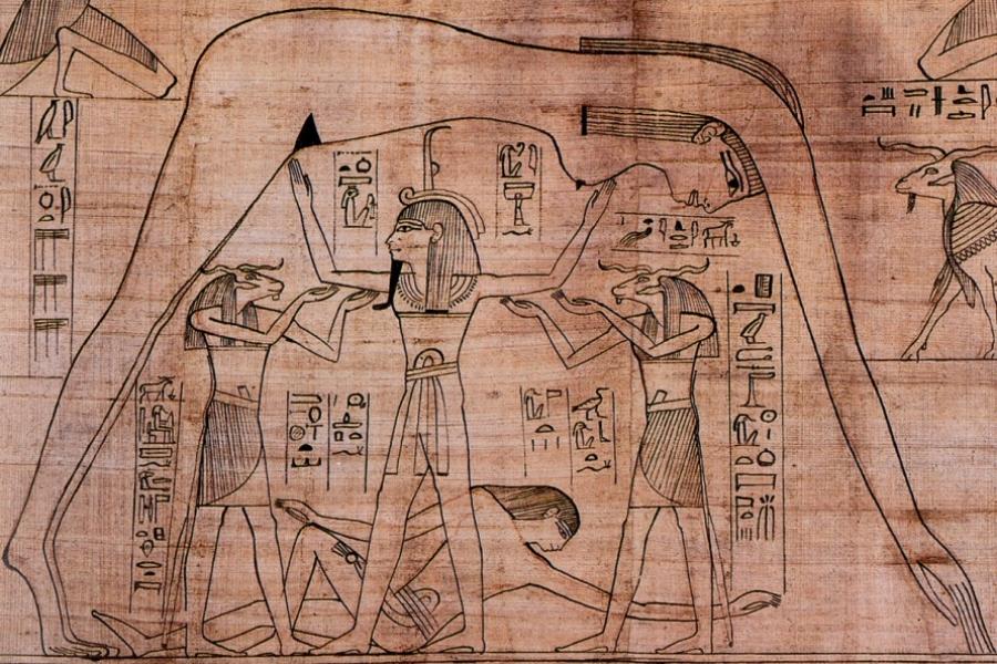 Imagine canonică egipteană a lumii