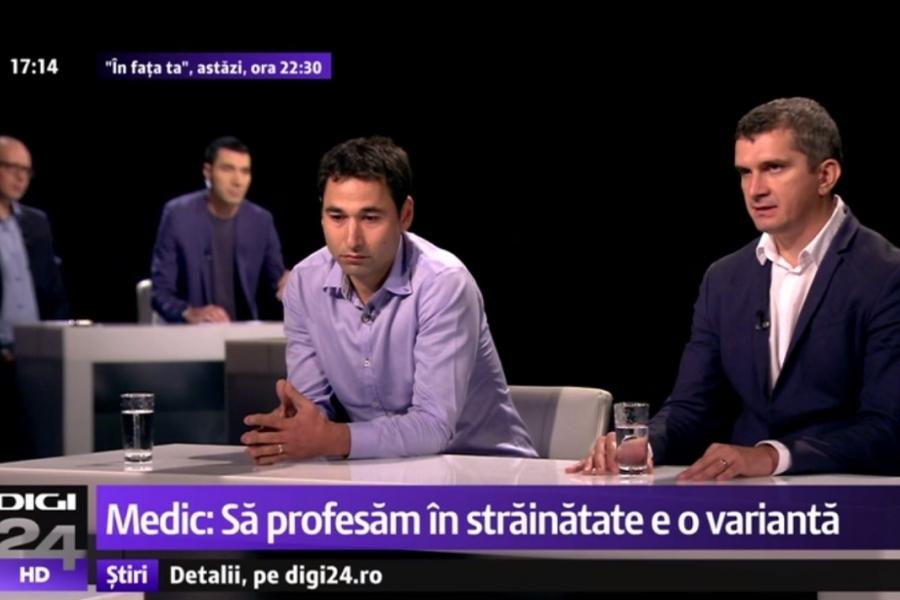 Neurochirurgii Ionuț Gobej și Dorin Bică