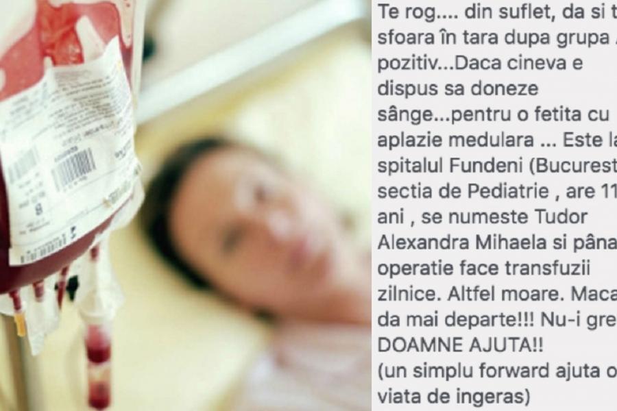 Donare sânge anunț