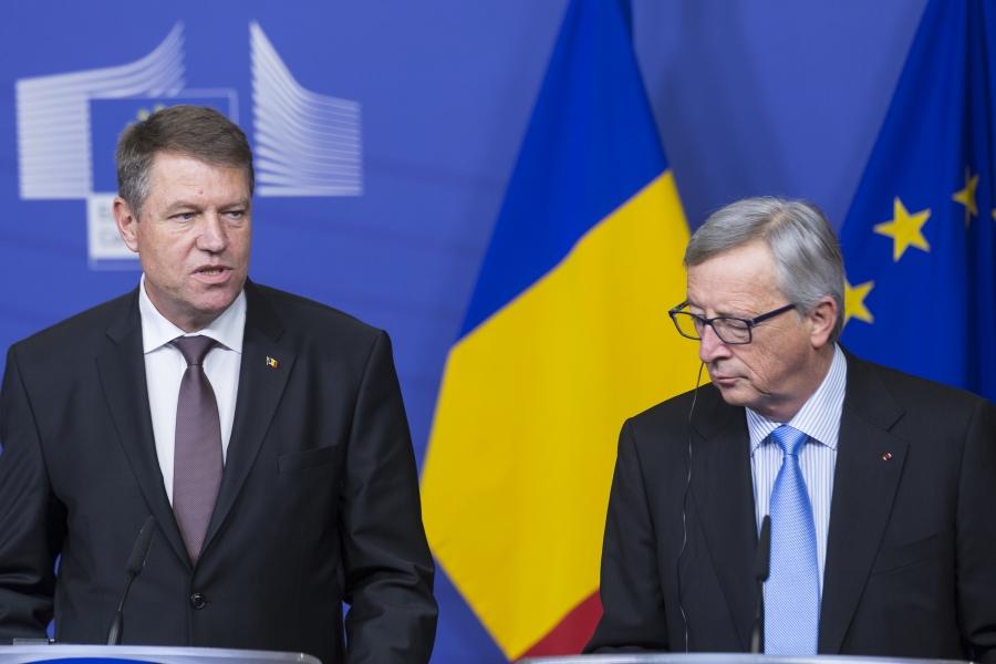 Klaus Iohannis și Jean-Claude Juncker