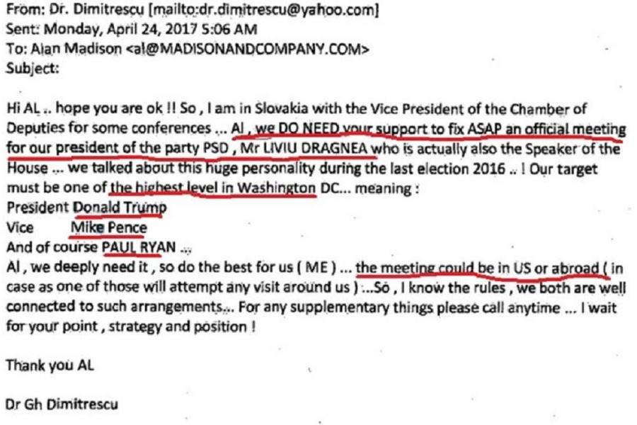 emailul lui Dimitrescu