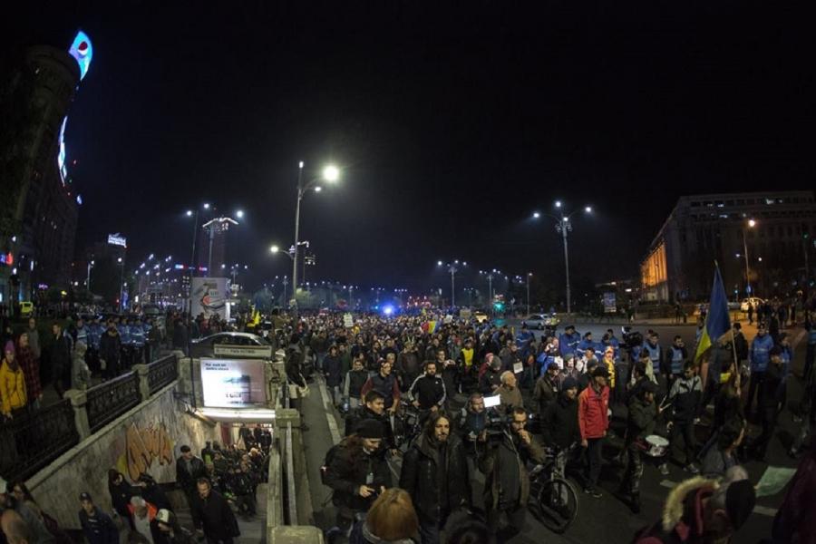 protest 5 nov - Dan Mihai Bălănescu