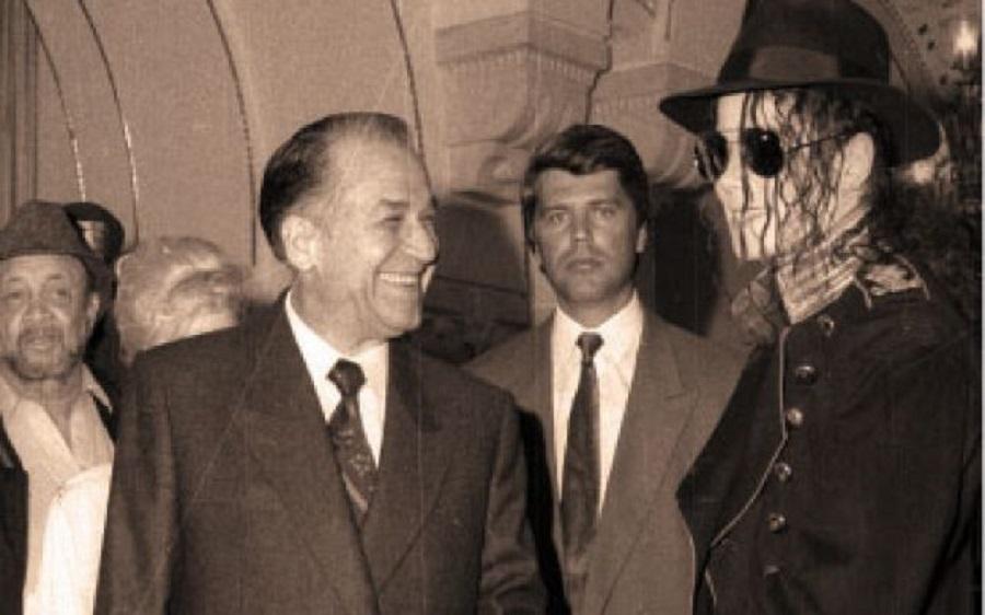 Iliescu și Michael Jackson