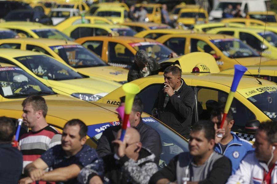 Protest al taximetriștilor împotriva Uber