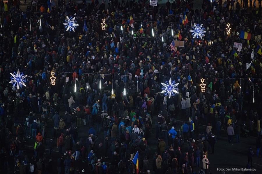 Protest 10 decembrie - Dan Mihai Balanescu -