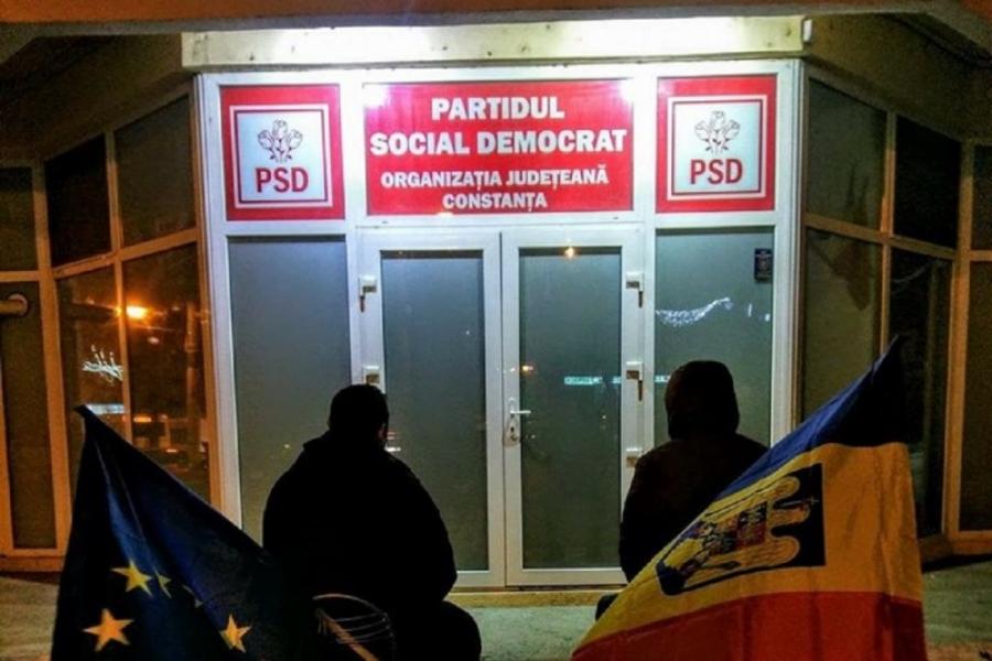 Protest inedit la Constanța