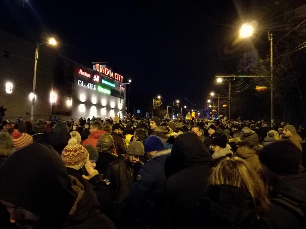 Protest la Cluj - 17 decembrie