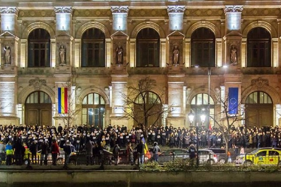Protest magistrați - Octav Drăgan