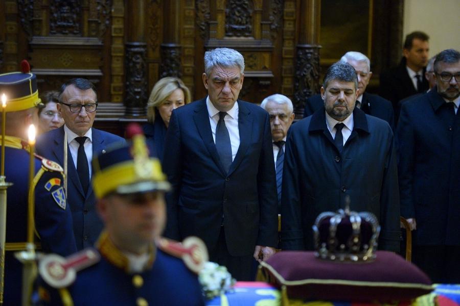 Mihai Tudose la funeralii