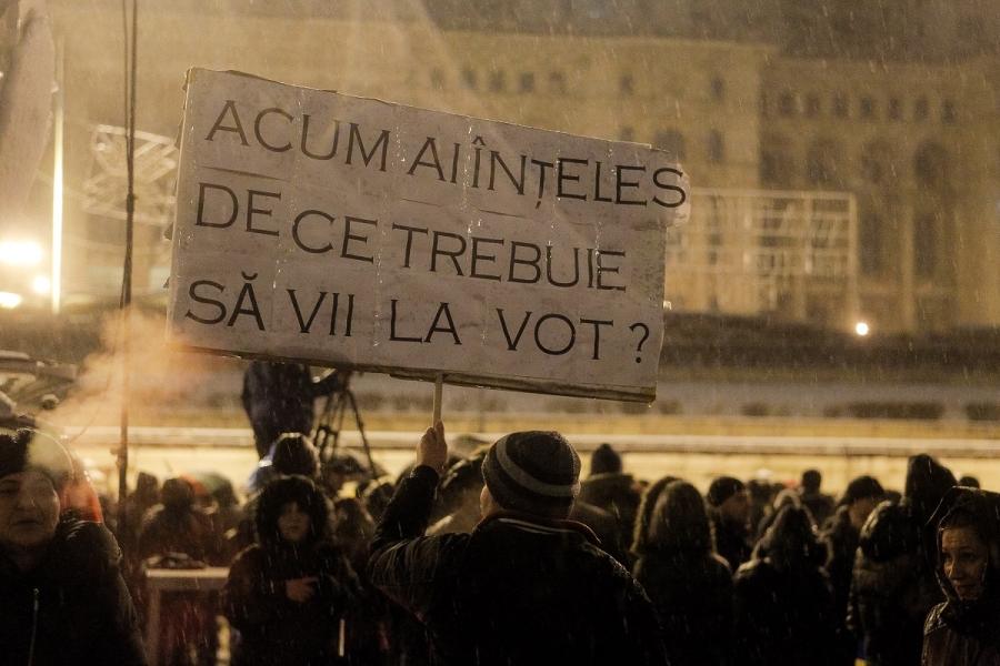Protest în fața Parlamentului, 20 ianuarie