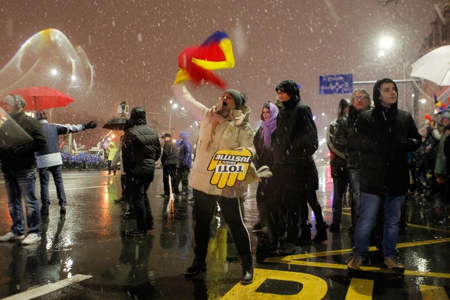 Hora Unirii - protest