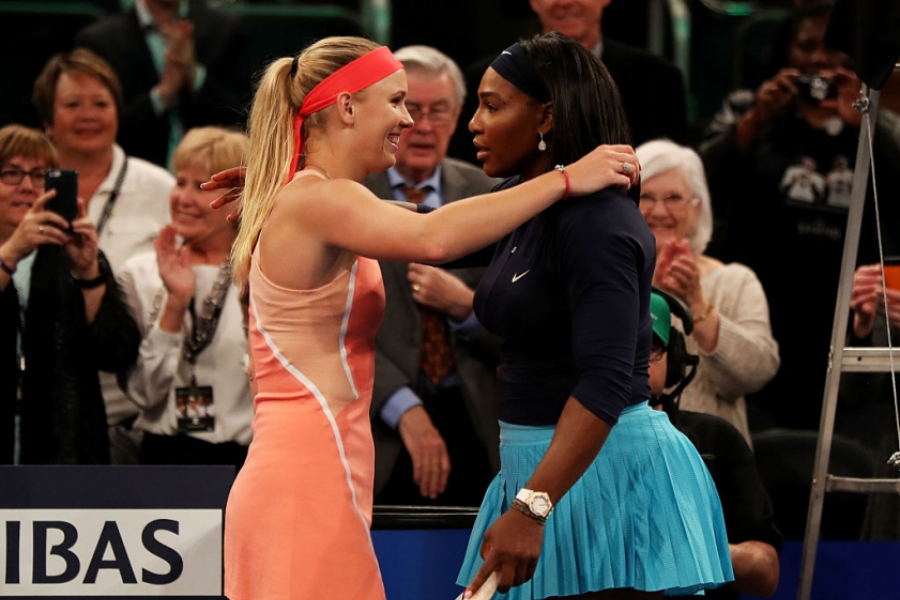Serena Williams și Caroline Wozniacki