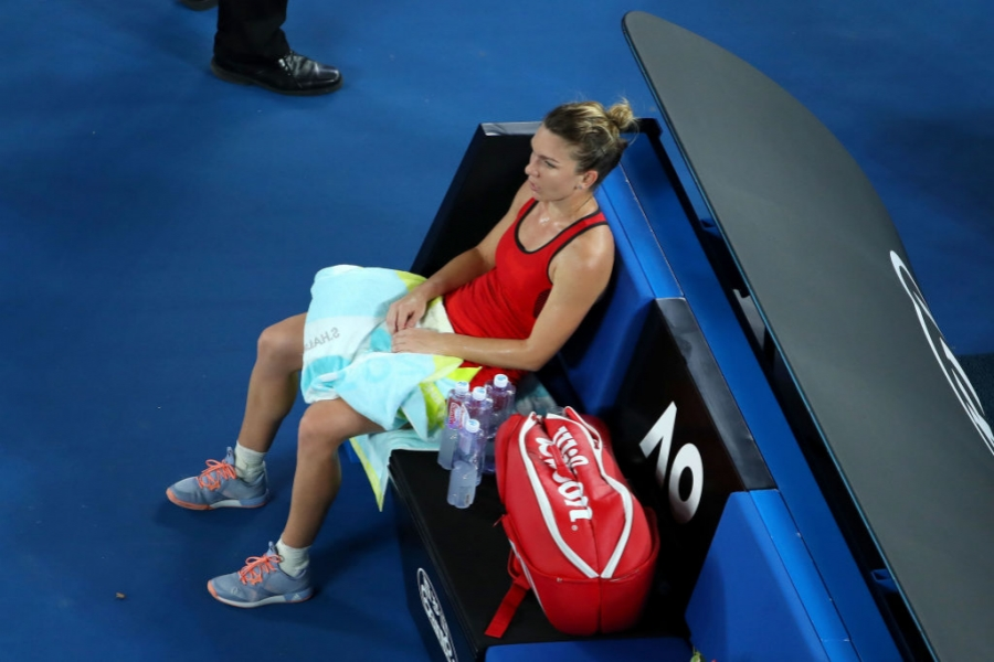 Simona Halep, odihnindu-se la Australian Open