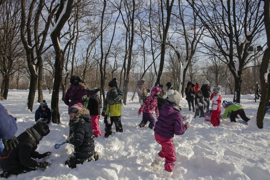 zăpadă - copii