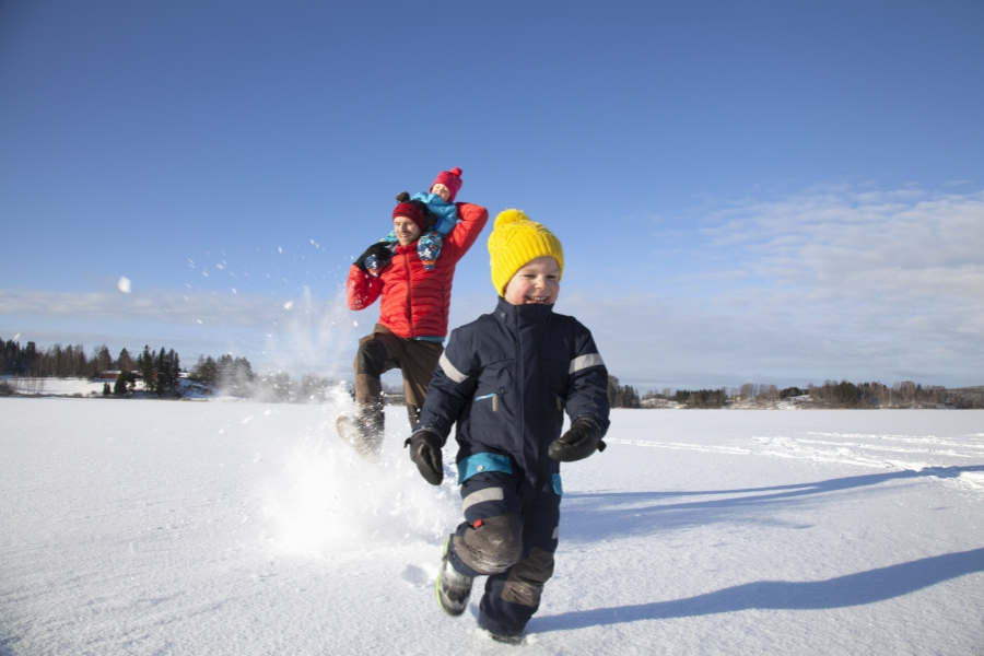 Fericire în zăpadă