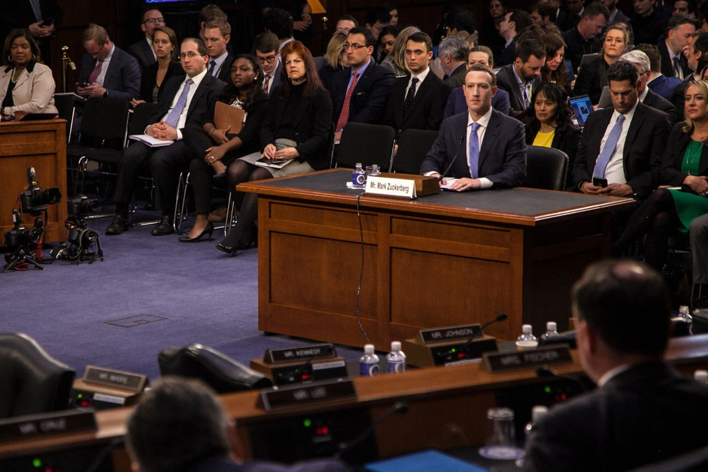 Mark Zuckerberg în congres