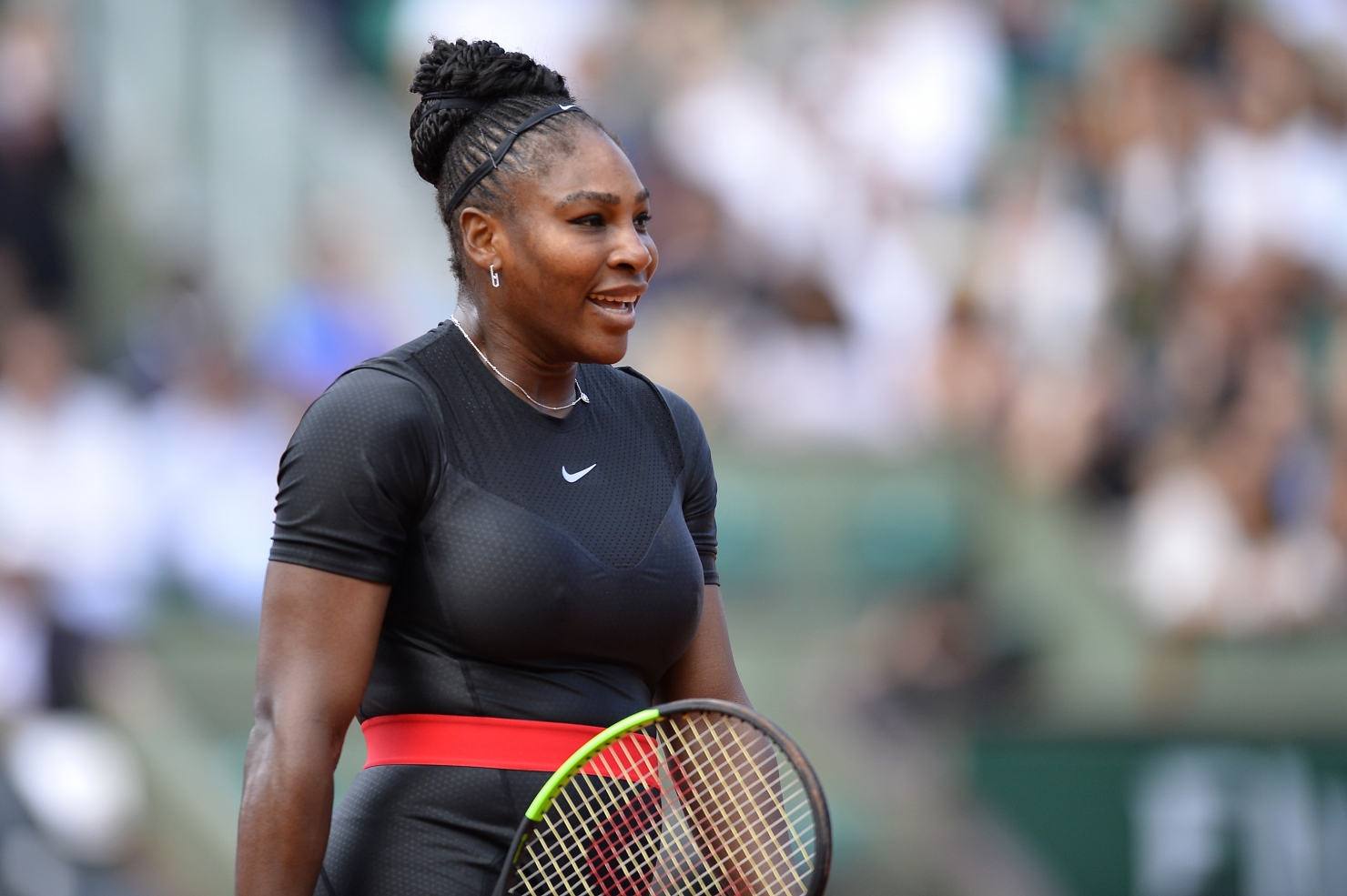 Serena in catsuit