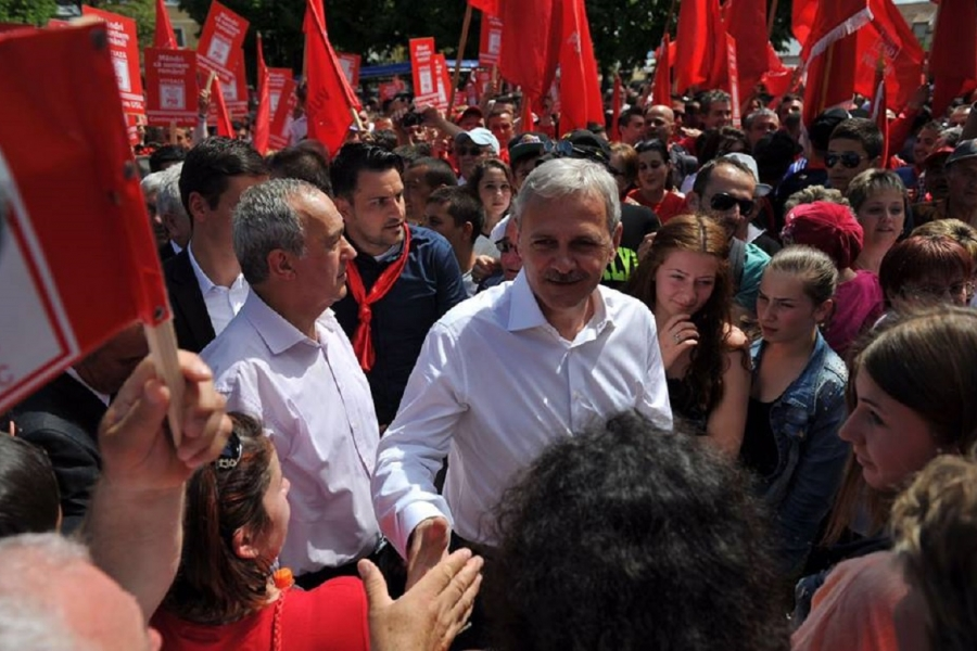 Dragnea, miting