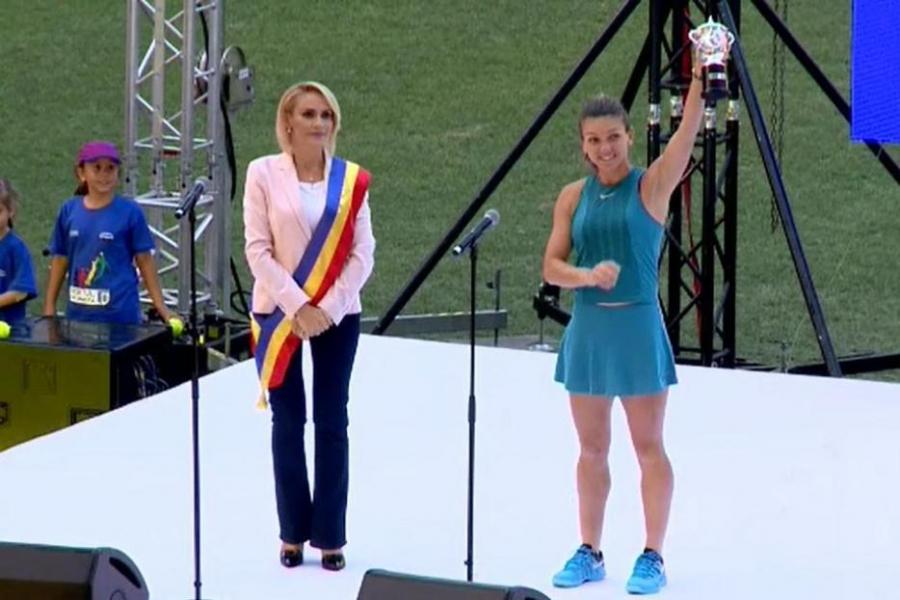 Simona Halep pe Arena Națională